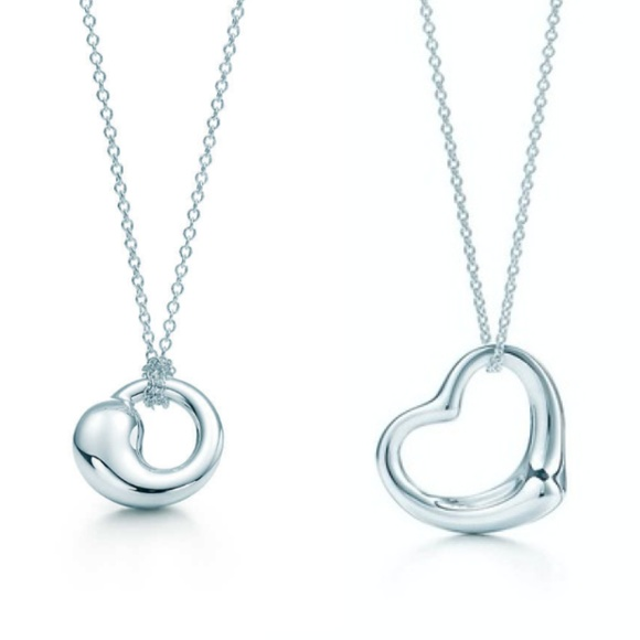 Tiffany & Co. Jewelry - 2 Tiffany Necklaces - Open Heart & Eternal Circle